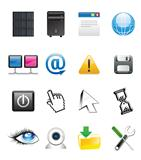 abstract communication icon set