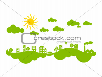 abstract creative green eco city climate