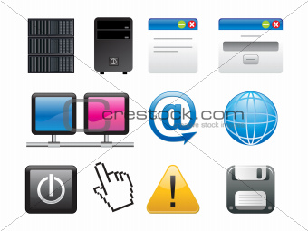 abstract multiple application icons