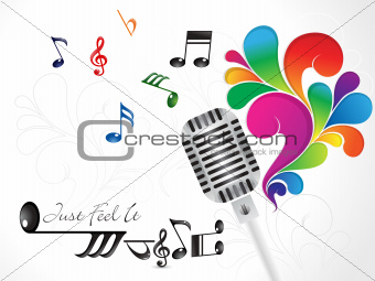 abstract colorful musical mic