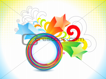 abstract colorful rainbow explode