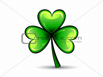 abstract st patrick green shiny clover