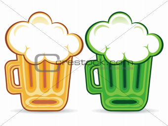 abstract st patrick beer jug