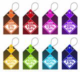 Colorful Discount Labels
