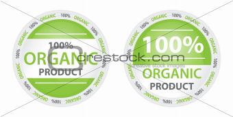 100% Organic Product Label in Two Versions