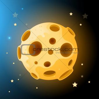 Vector Moon Rock