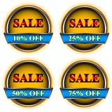 Four buttons sale
