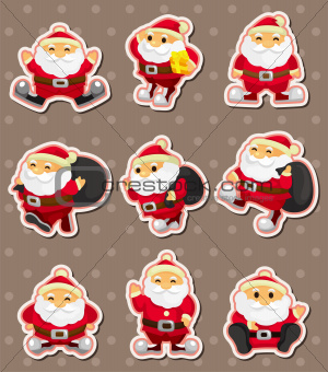 cartoon santa claus Christmas stickers
