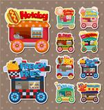 Cartoon market store car stickers