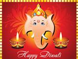 abstract diwali card