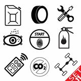 Car part icon set 11