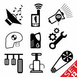 Car part icon set 12