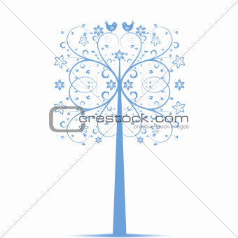 Art Tree and Birds