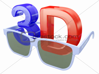 3d glasses for three-dimensional video