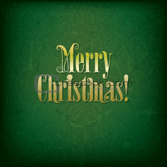 Abstract background with original font text Merry Christmas