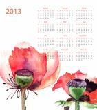 Template for calendar 2013