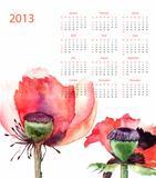 Template for calendar 2013