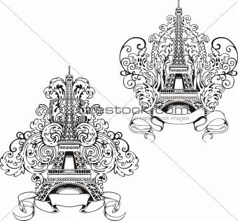 Stylized Eiffel Tower