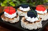 Closeup Of Caviar Canapés