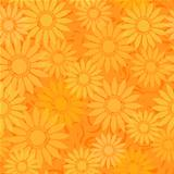 seamless sunflowers orange abstract pattern background