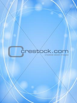 blue smooth waves light design template frame