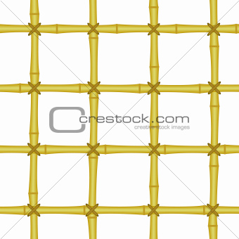 vintage bamboo grating, lattice seamless background isolated