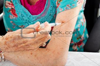 Self Injection Closeup