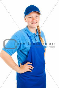 Teenage Worker Hands on Hips