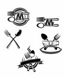 Restaurant menu symbols and embellishments