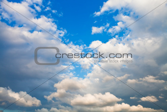 evening cumulus clouds