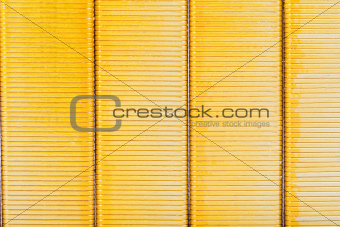 background from yellow metal strips