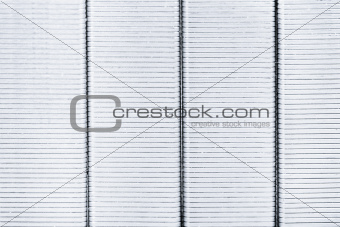 background from grey metal staples