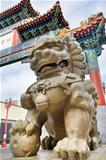 Chinese Male Foo Dog Guardian at Chinatown Gate