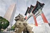 Chinese Foo Dog at Chinatown Gate Entrance