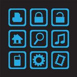 simple blue icons 01