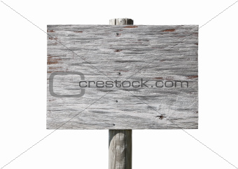 Blank old sign