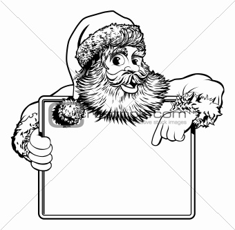 Christmas Santa Claus Sign