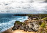 Jurassic coast landscape in Cornwall UK