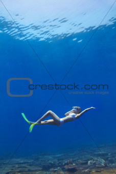 Floating free in a deep blue sea