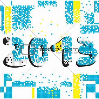 2013 pixel background