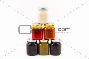 Homemade marmelade pile