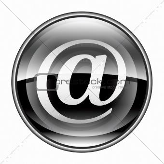 email symbol black, isolated on white background