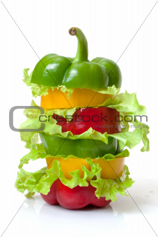Mixed Bell Pepper with Lettuce