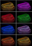 Collage of glowing LED garland