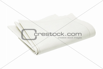 Folded Blank Newspaper