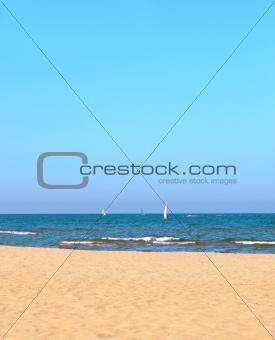 Seascape with yachts