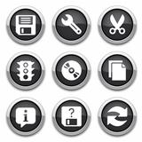 black basic application buttons
