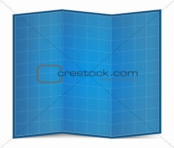 Folded Blueprint Paper
