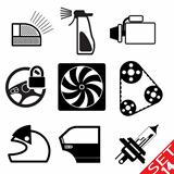 Car part icon set 14