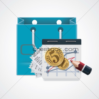 Vector expensive shopping icon